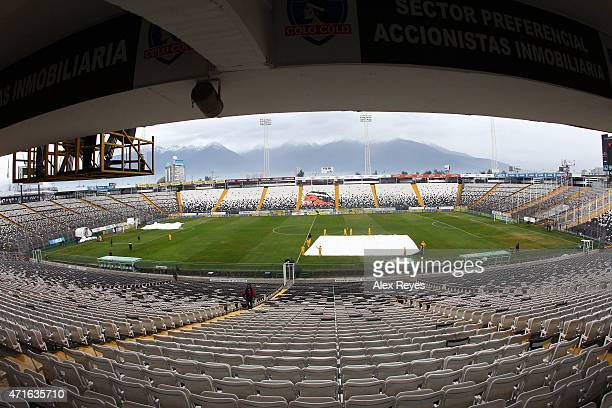 General view of Estadio Monumental during a match between Colo Colo and U de Chile 2011 in Santiago Chile