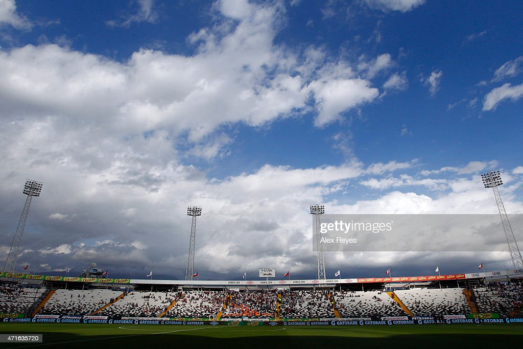 General view of Estadio Monumental during a match between Colo Colo and Cobreloa , 2011 in Santiago, Chile.