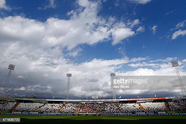 General view of Estadio Monumental during a match between Colo Colo and Cobreloa 2011 in Santiago Chile