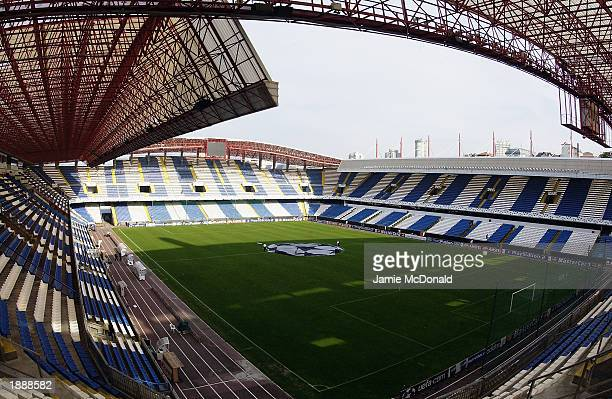 General view of Estadio Municipal de Riazor GV before the European Champions League Second stage Group D match between Deportivo La Coruna and...