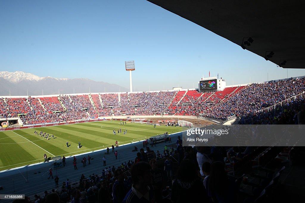 General view of Estadio Nacional Julio Martinez Pradanos during a match between U de Chile and Colo Colo on April 29, 2012 in Santiago, Chile.