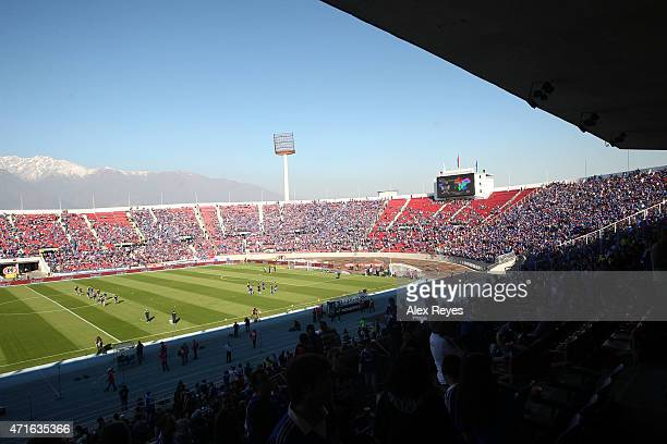 General view of Estadio Nacional Julio Martinez Pradanos during a match between U de Chile and Colo Colo on April 29 2012 in Santiago Chile