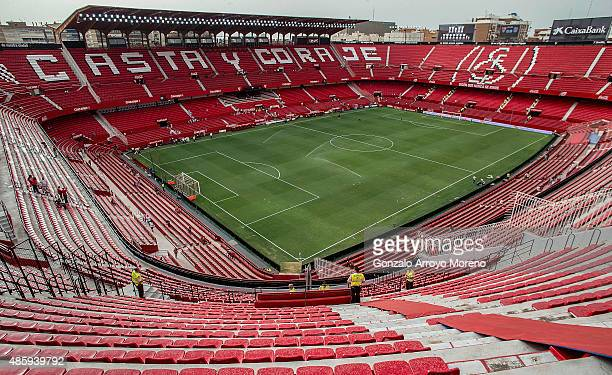 General view of Estadio Ramon Sanchez Pizjuan after its refurbishment and before the La Liga match between Sevilla FC and Club Atletico de Madrid on...