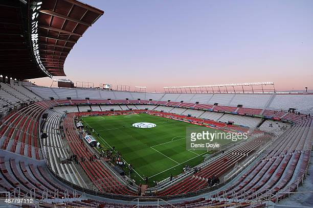 A general view of estadio Ramon Sanchez Pizjuan ahead of the Spain v Ukraine EURO 2016 Qualifier on March 27 2015 in Seville Spain