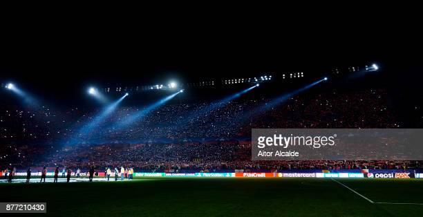 General view of Estadio Ramon Sanchez Pizjuan before the UEFA Champions League group E match between Sevilla FC and Liverpool FC at Estadio Ramon...