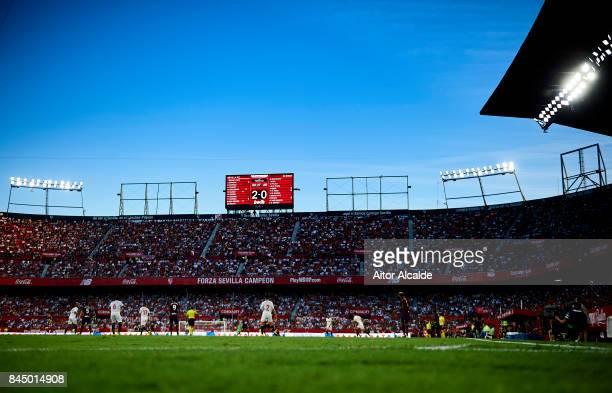 General view of Estadio Ramon Sanchez Pizjuan during the La Liga match between Sevilla and Eibar at Estadio Ramon Sanchez Pizjuan on September 9 2017...
