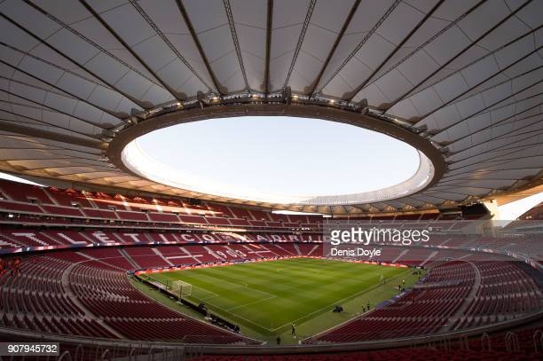 A general view of Estadio Wanda Metropolitano ahead of the Copa del Rey Quarter Final First Leg match between Atletico de Madrid and Sevilla at...
