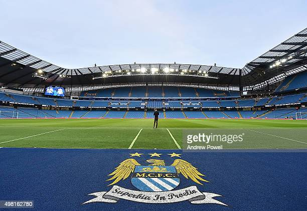 General View of Etihad Stadium prior to the Barclays Premier League match between Manchester City and Liverpool at Etihad Stadium on November 21 2015...
