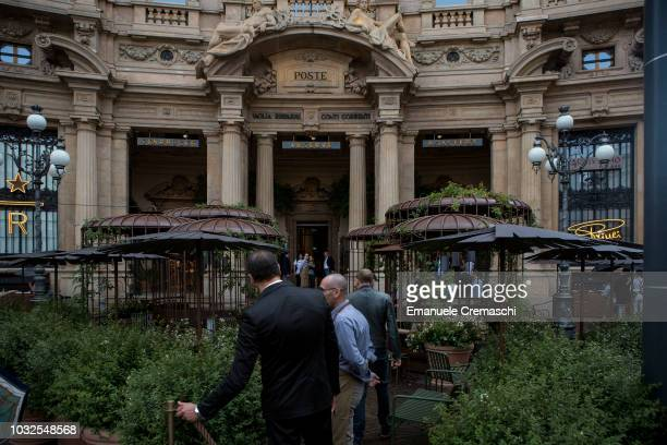 A general view of Europe's largest and Italy's first Starbucks Reserve Roastery located inside a historic post office in Piazza Cordusio on September...