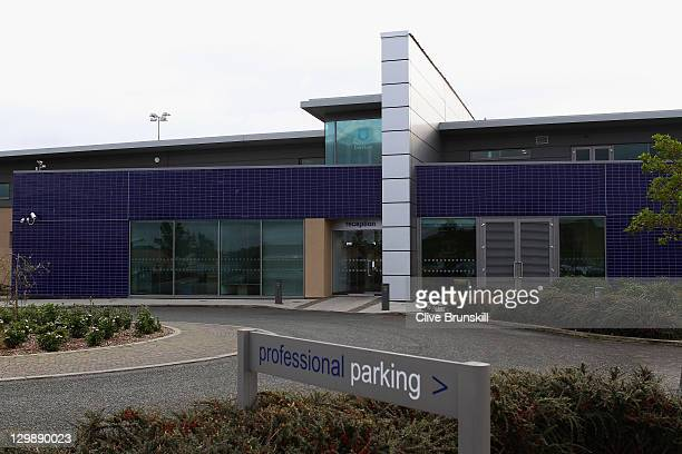 A general view of Everton Football Clubs training complex at Finch Farm on October 21 2011 in Liverpool England