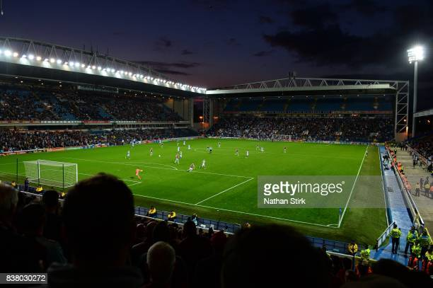 A general view of Ewood Park during the Carabao Cup Second Round match between Blackburn Rovers and Burnley at Ewood Park on August 23 2017 in...