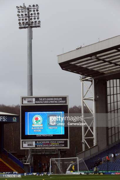 A general view of Ewood Park home of Blackburn Rovers FC during the Sky Bet Championship match between Blackburn Rovers and Preston North End at...