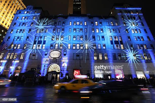 General view of exterior of Bergdorf Goodman store during 2014 Bergdorf Goodman Holiday Window Unveiling & UNICEF Snowflake Lighting at Bergdorf...
