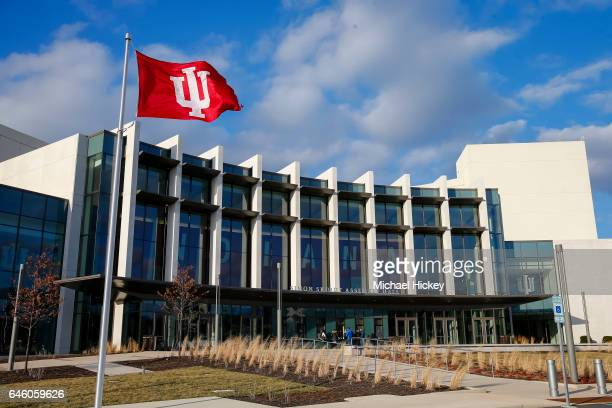 General view of exterior of Indiana University Simon Skjodt Assembly Hall on February 25 2017 in Bloomington Indiana