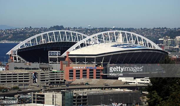 General view of exterior of Qwest Field the home of the Seattle Seahawks in Seattle Wash