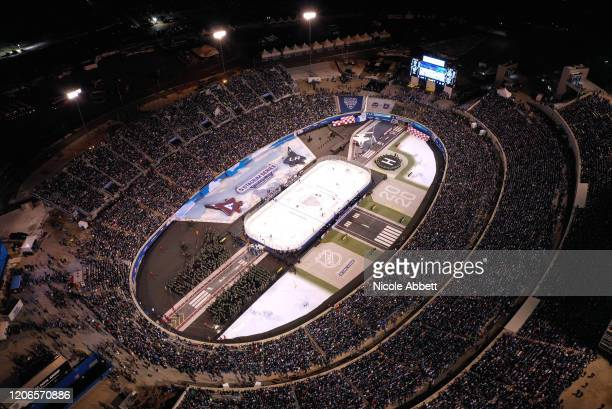 General view of Falcon Stadium is seen during the 2020 NHL Stadium Series game between the Los Angeles Kings and the Colorado Avalanche at Falcon...