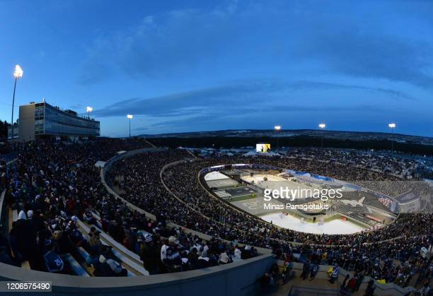 General view of Falcon Stadium is seen prior to the 2020 NHL Stadium Series game between the Los Angeles Kings and the Colorado Avalanche at Falcon...