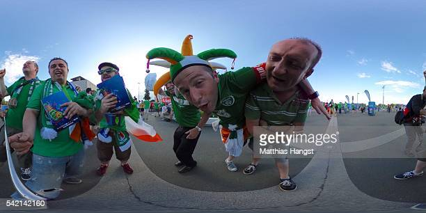 General view of fans ahead of the UEFA Euro 2016 Group E match between Italy and Republic of Ireland at Stade PierreMauroy on June 22 2016 in Lille...