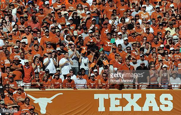 General view of fans at Darrell K Royal-Texas Memorial Stadium during a game between the Oklahoma State Cowboys and the Texas Longhorns on October...