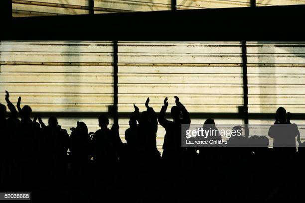 A general view of fans at Pride Park during the CocaCola Championship match between Derby County and Sunderland at Pride Park on January 16 2005 in...