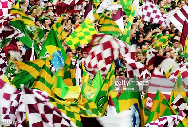 General view of Fans at the All-Ireland GAA Final between Galway and Kerry held at Croke Park,Dublin in the Republic of Ireland on the 24th of...