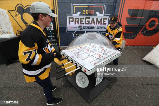 A general view of fans at the PreGame is seen prior to the 2019 Coors Light NHL Stadium Series game between the Pittsburgh Penguins and the...
