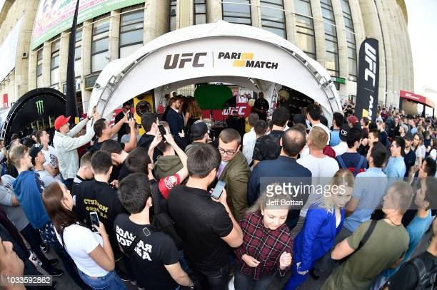 A general view of fans at the UFC Fan Experience at the UFC Fight Night event at Olimpiysky Arena on September 15 2018 in Moscow Russia
