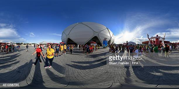 A general view of fans before the 2014 FIFA World Cup Brazil Group G match between USA v Portugal at Arena Amazonia on June 22 2014 in Manaus Brazil