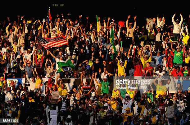 A general view of fans during the FIFA Confederations Cup Group B match between USA and Brazil at Loftus Versfeld Stadium on June 18 2009 in Pretoria...