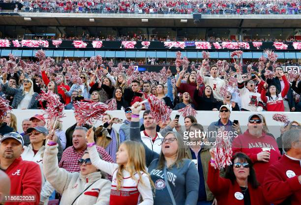 General view of fans during the game between the LSU Tigers and the Alabama Crimson Tide at Bryant-Denny Stadium on November 09, 2019 in Tuscaloosa,...