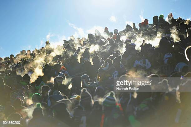 A general view of fans during the NFC Wild Card Playoff game between the Minnesota Vikings and the Seattle Seahawks at TCFBank Stadium on January 10...
