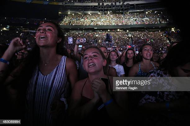 A general view of fans during the One Direction In concert at MetLife Stadium on August 5 2015 in East Rutherford New Jersey