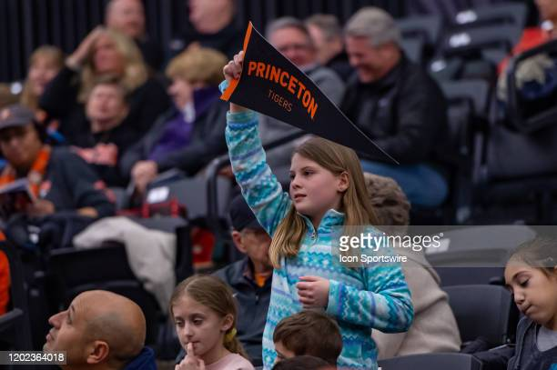 General view of fans during the second half of the Ivy League college basketball game between the Harvard Crimson and Princeton Tigers on February 21...