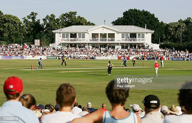 General view of fans enjoying the cricket as Surrey pile on the runs during theTwenty20 Cup match between Kent Spitfires and Surrey Lions on June 22,...