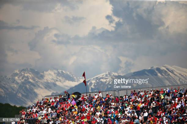 A general view of fans in a grandstand during the Formula One Grand Prix of Russia on April 30 2017 in Sochi Russia