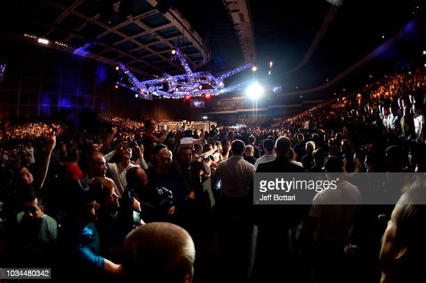 A general view of fans in the arena during the UFC Fight Night event at Olimpiysky Arena on September 15 2018 in Moscow Russia