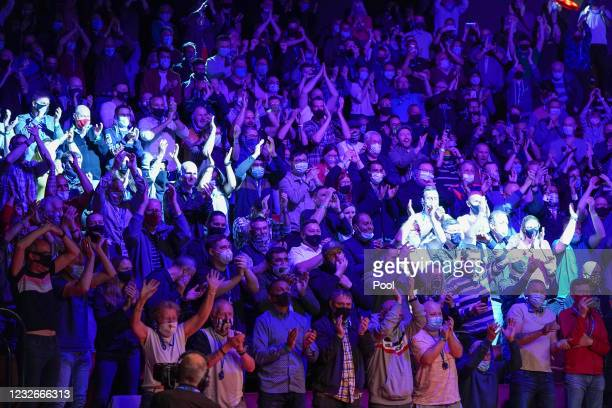 General view of fans in the auditorium during day 17 of the Betfred World Snooker Championships 2021 at The Crucible Theatre on May 3, 2021 in...