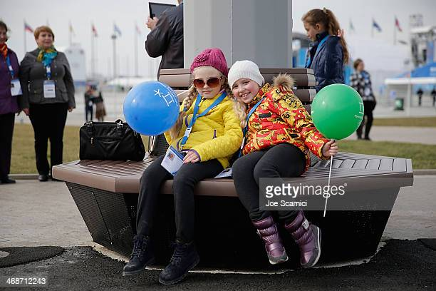A general view of fans in the Olympic Park on Day 4 of the 2014 Winter Olympics on February 11 2014 in Sochi Russia