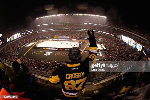 A general view of fans in the upper seatin area is seen during the 2019 Coors Light NHL Stadium Series game between the Pittsburgh Penguins and the...