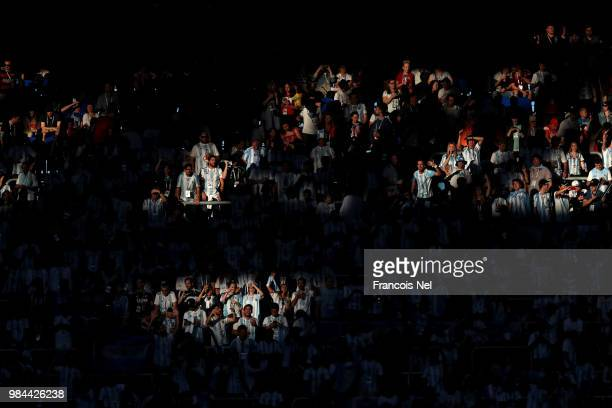 General view of fans inside the stadium prior to the 2018 FIFA World Cup Russia group D match between Nigeria and Argentina at Saint Petersburg...