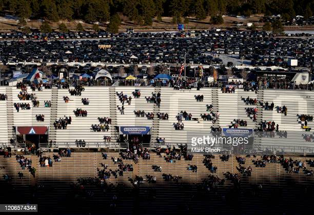 General view of fans is seen at Falcon Stadium prior to the 2020 NHL Stadium Series game between the Los Angeles Kings and the Colorado Avalanche on...
