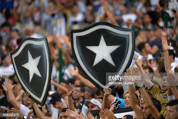 A general view of fans of Botafogo during the match between Botafogo and Chapecoense as part of Brasileirao Series A 2014 at Maracana stadium on...