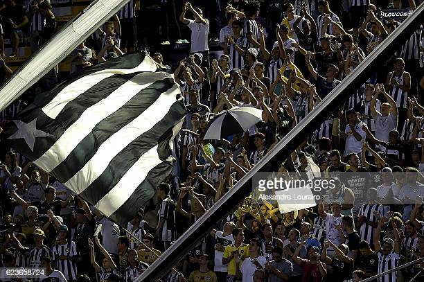 A general view of fans of Botafogo during the match between Botafogo and Chapecoense as part of Brasileirao Series A 2016 at Luso Brasileiro stadium...