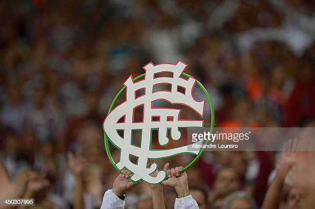 A general view of fans of Fluminense during the match between Fluminense and Sao Paulo for the Brazilian Series A 2013 at Maracana on November 17...