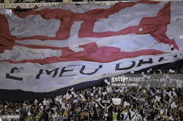 A general view of fans of Vasco da Gama during the match between Vasco da Gama and Flamengo as part of Brasileirao Series A 2017 at Sao Januario...