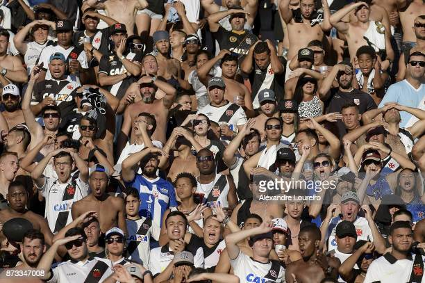 A general view of fans of Vasco da Gama during the match between Vasco da Gama and Sao Paulo as part of Brasileirao Series A 2017 at Sao Januario...