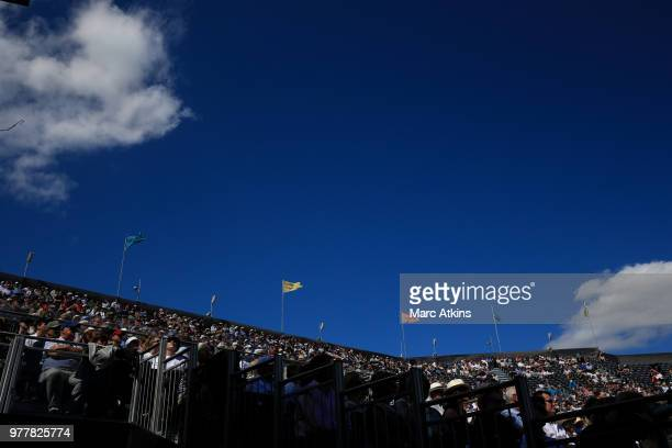 A general view of fans on Centre Court on Day 1 of the FeverTree Championships at Queens Club on June 18 2018 in London United Kingdom