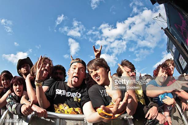 General view of fans on Day 2 of Download Festival at Donington Park on June 11 2011 in Castle Donington England