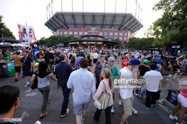General view of fans outside of Arthur Ashe Stadium during the 2011 US Open at the USTA Billie Jean King National Tennis Center on September 3, 2011...