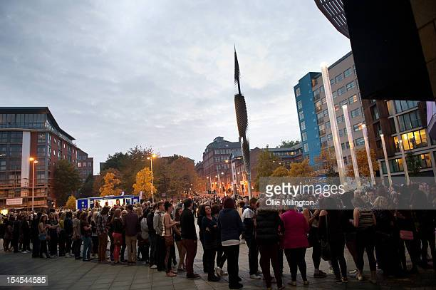 General view of fans queuing up before the doors open for the opening night of the Roman Reloaded European 2012 Nicki Minaj Arena tour at Nottingham...